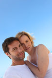 Couple on a sunny day. Couple stood outside on a sunny day Royalty Free Stock Image