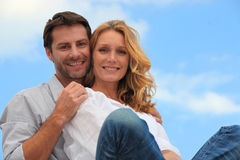Couple on a sunny day Royalty Free Stock Photography