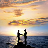 Couple on sunrise Royalty Free Stock Images