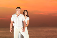 Couple at sunrise Royalty Free Stock Photo