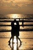 Couple on sunset. Royalty Free Stock Photo