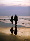 Couple on sunset Royalty Free Stock Photos