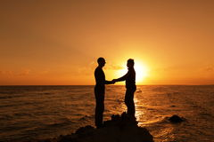 Couple on sunset Stock Images