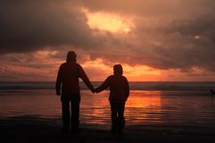 Couple on sunset Royalty Free Stock Image