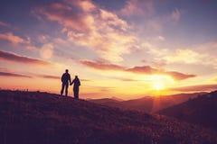 Couple on sunset Royalty Free Stock Photography