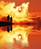 Couple on sunset Royalty Free Stock Image