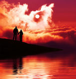 Couple on sunset Royalty Free Stock Photography