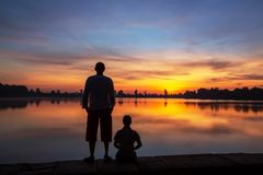 Couple at sunset Royalty Free Stock Image