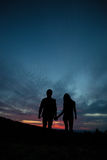 Couple at sunset Royalty Free Stock Photo