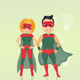 Couple of superheroes Royalty Free Stock Photo