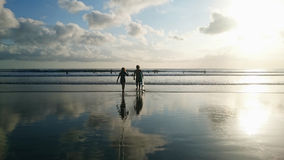 Couple Surfer Royalty Free Stock Photography