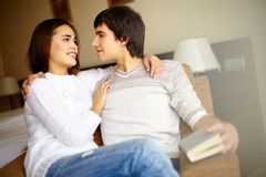 Couple in sweaters Royalty Free Stock Photo