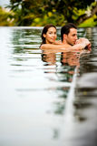 Couple Swimming Royalty Free Stock Photo