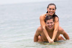 Couple swimming ocean Stock Images