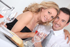 Couple at table Royalty Free Stock Photos
