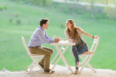 Couple at Table Royalty Free Stock Photo