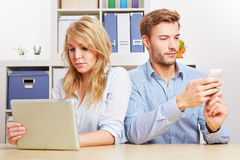 Couple with tablet computer Stock Photography
