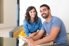 Couple with tablet Royalty Free Stock Image