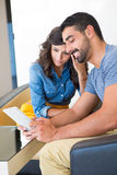 Couple with tablet Royalty Free Stock Photo