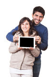 Couple with Tablet PC Royalty Free Stock Images