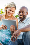 Couple with Tablet PC Royalty Free Stock Photos