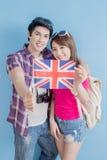 Couple take british flag Royalty Free Stock Photo