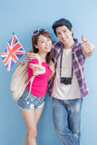 Couple take british flag Stock Photo