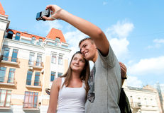 Couple take a picture together Stock Photography