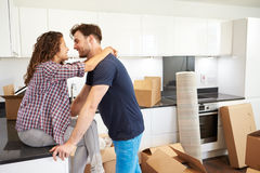 Couple Taking A Break During House Move Royalty Free Stock Photo