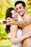 Couple Taking Photograph Royalty Free Stock Images