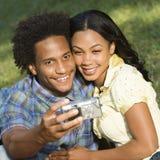 Couple taking photos. stock image