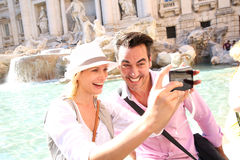 Couple Taking Picture In Rome Royalty Free Stock Images