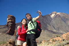 Couple taking picture, tenerife royalty free stock image