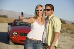 Couple Taking Self Portrait Stock Photography