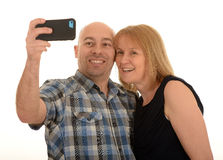 Couple taking self portrait Stock Photos