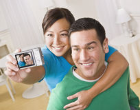 Couple Taking a Self Portrait Stock Photo