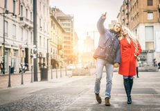 Couple taking selfie Royalty Free Stock Photos