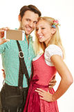 Couple taking selfie Stock Images