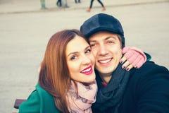 Couple Taking Selfie Royalty Free Stock Photos