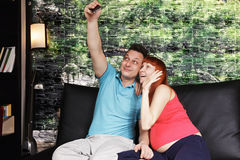Couple taking selfie Stock Photography