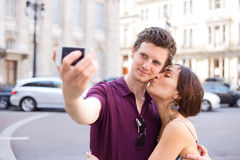 Couple taking a selfie Royalty Free Stock Photo