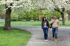 Couple taking a walk Stock Photography