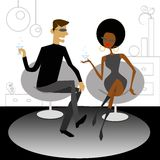 Couple talking Royalty Free Stock Photography