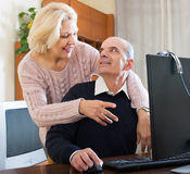 Couple talking with someone online Stock Photo