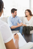 Couple talking with their psychologist Stock Image