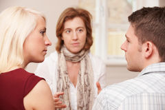 Couple Talking To Relationship Counsellor. Couple Talk To Relationship Counsellor royalty free stock photo