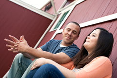 Couple Talking Together Stock Image