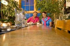 Couple with Teapot Stock Photos