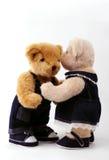 Couple of teddy bear royalty free stock photo