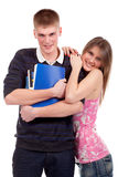 Couple teenage students Royalty Free Stock Photo